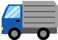 廃品回収、資源回収時、段ボールを回収するパッカー車