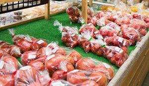果物と野菜は、直販店で購入