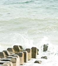 潮が動くとカニ網が絡まる