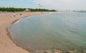 カニ網を使うときは砂浜のほうが釣りやすい
