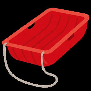 アサリ採りにはスノーボートが必須